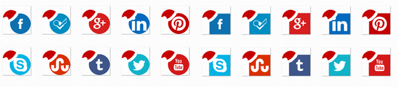 flat-christmas-colored-social-media-icon-pack