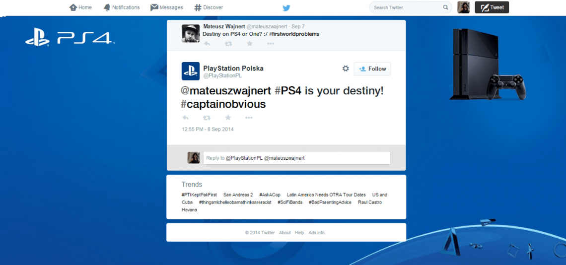 12 powerful ways social listening can grow your business — Interact with users: Sony PlayStation driving engagement