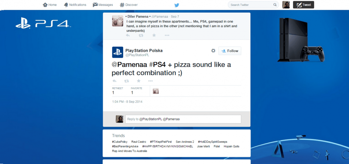 12 powerful ways social listening can grow your business — Interact with users PlayStation