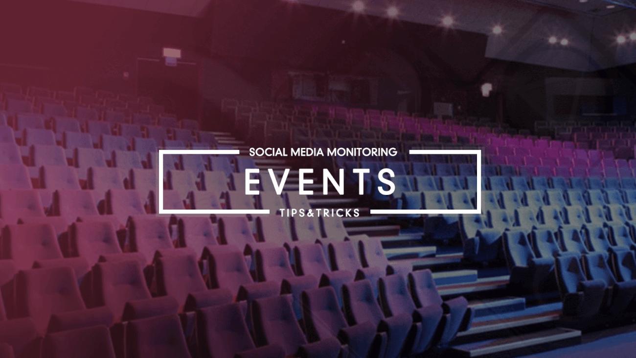 events social media monitoring