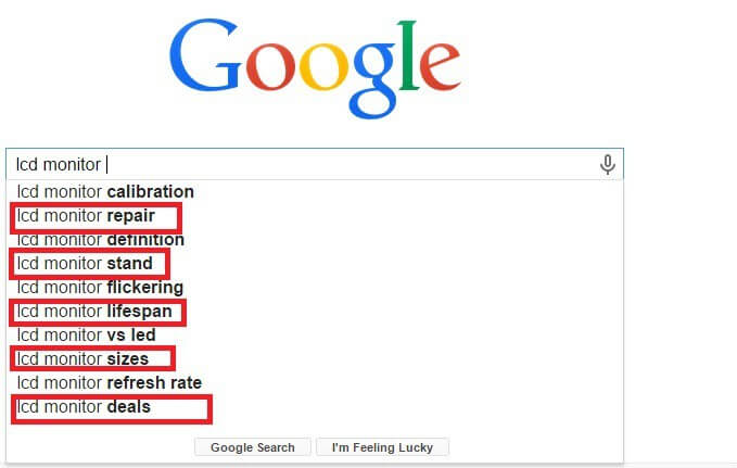 google autocomplete in keyword research