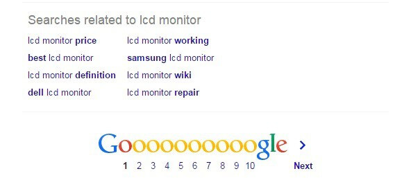 related search term google search