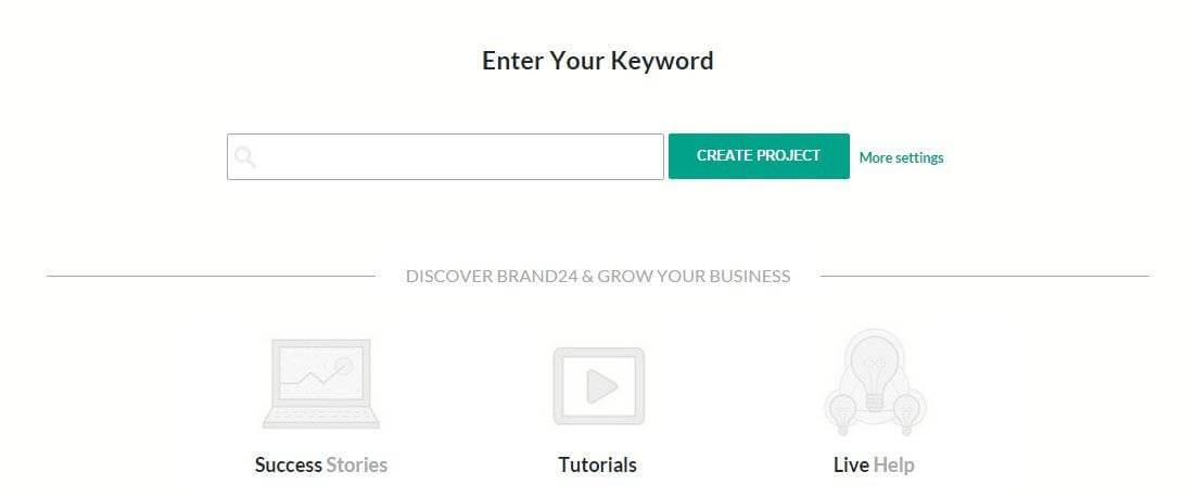 enter your keyword brand24 project configuration