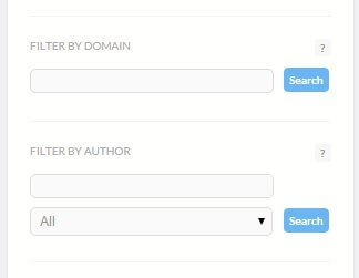filter by domain and author brand24