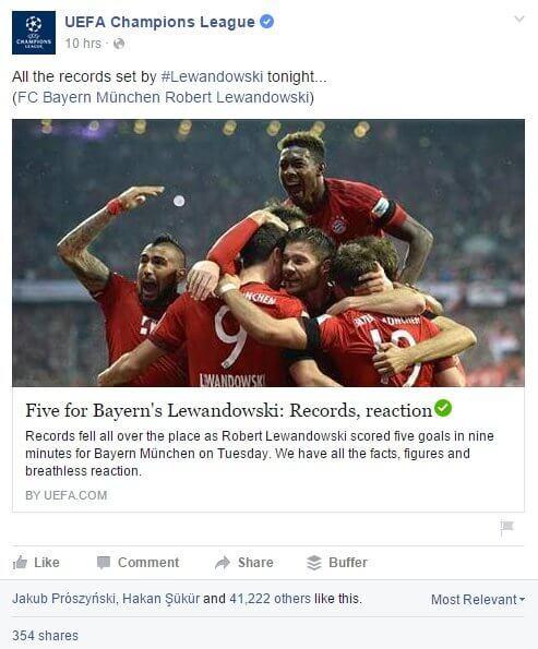 lewandowski social media uefa champions league brand24