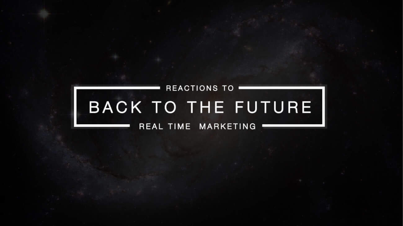 Brands Reacting to Marty's Back to the Future - Real Time Marketing Stunts