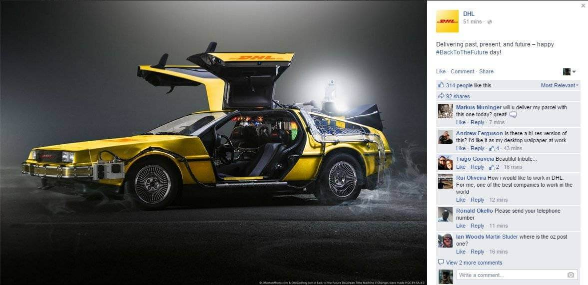 DHL real time marketin back to the future