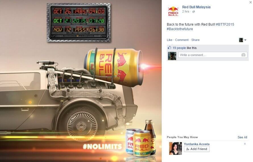 redbull back to the future real time marketing