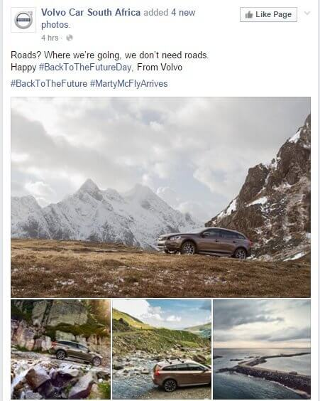 volvo back to the future real time marketing