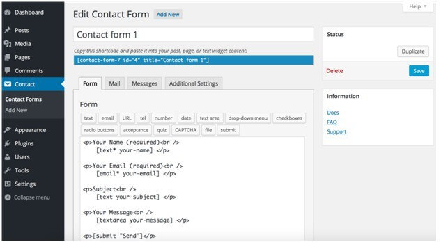 Get Contact Forms/Contact Form 7