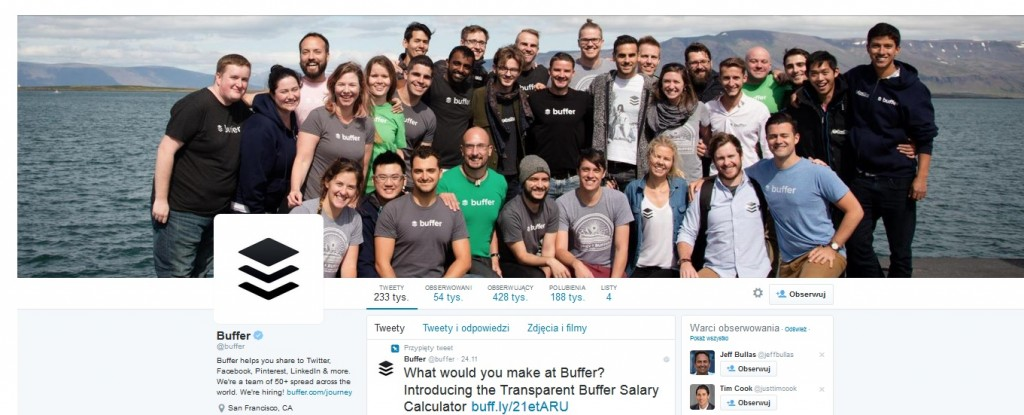 Buffer. Add a human face to your business.