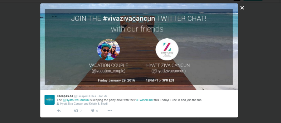 twitter party vacation couple