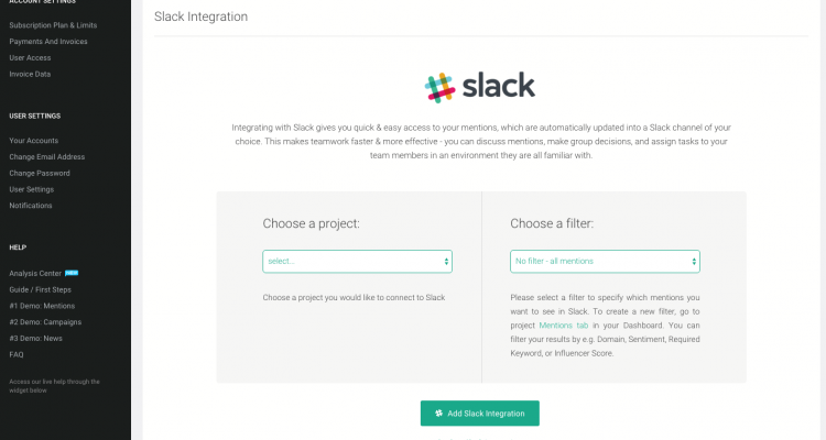 new brand24 integration with slack