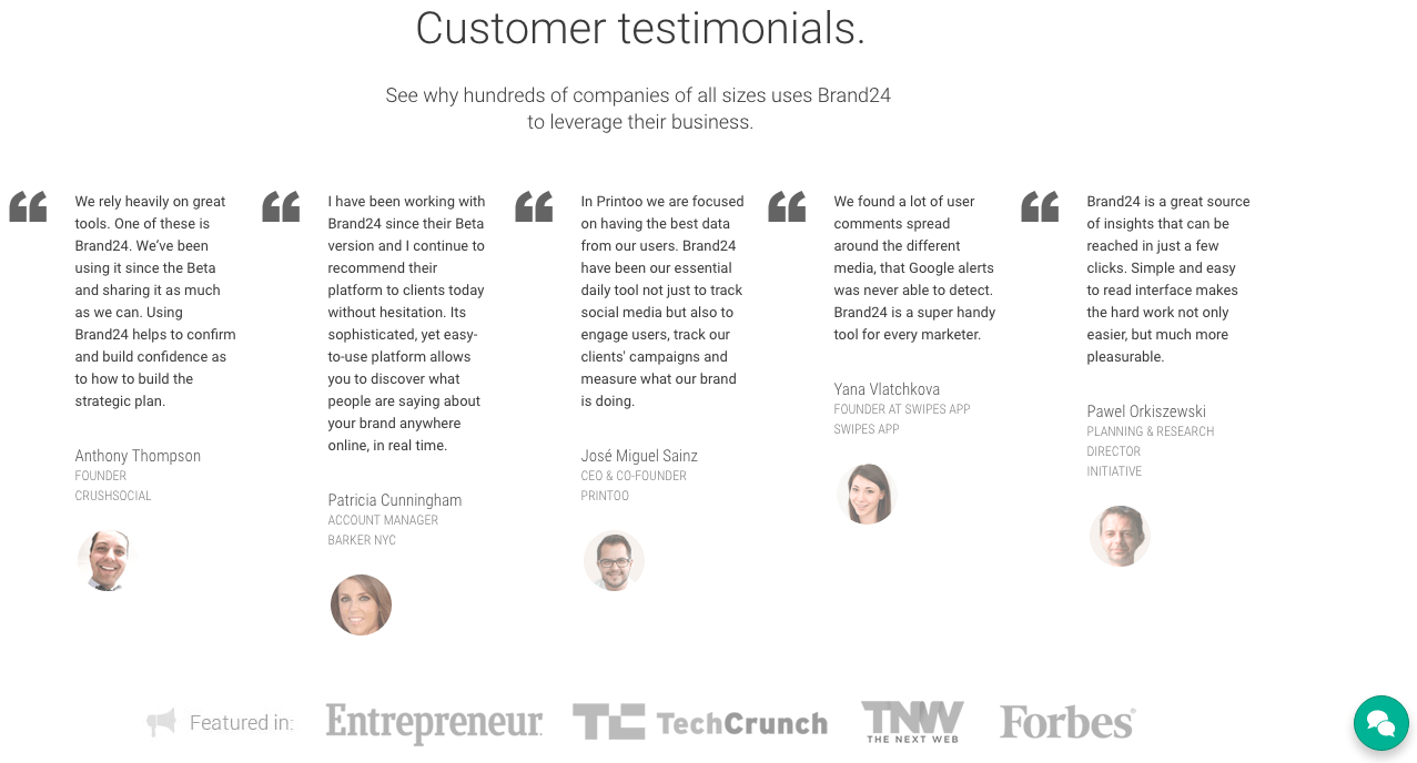 testimonials on website online reviews