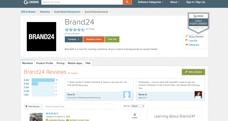 g2 crowd online reviews