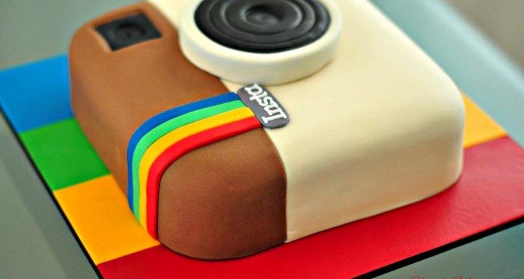 instagram cake Instagram logo
