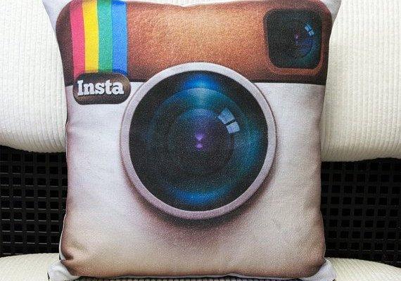 instagram pillow Instagram logo