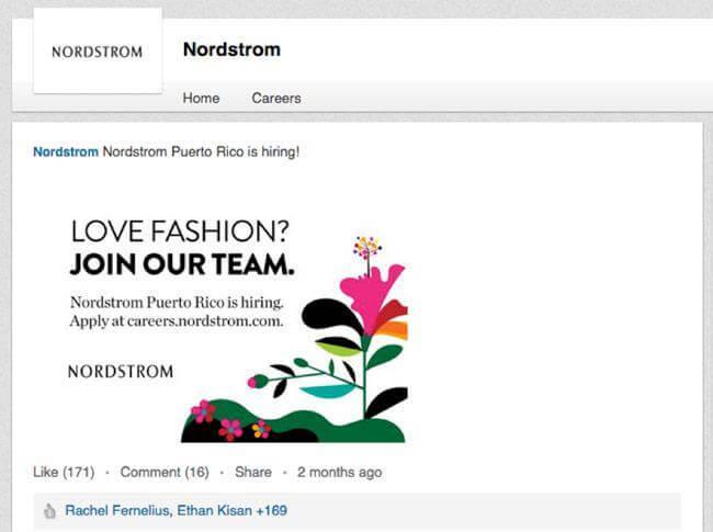 nordstrom social media