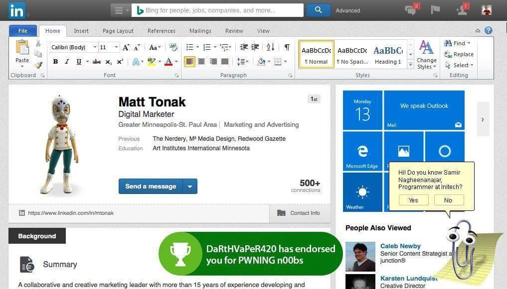 reddit linkedin Microsoft bought LinkedIn