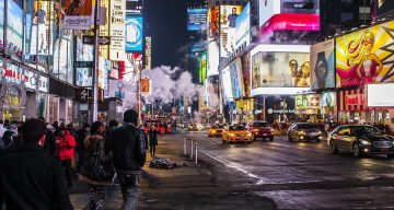 2016 social media trends times square