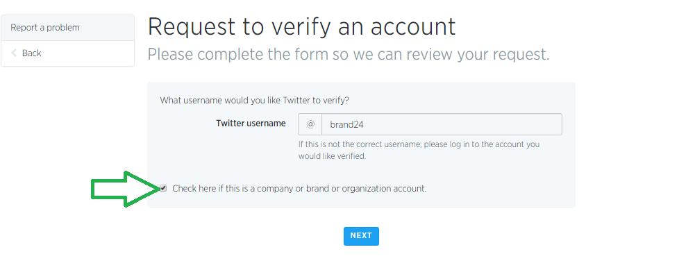 How to verify a company account