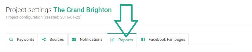 report settings