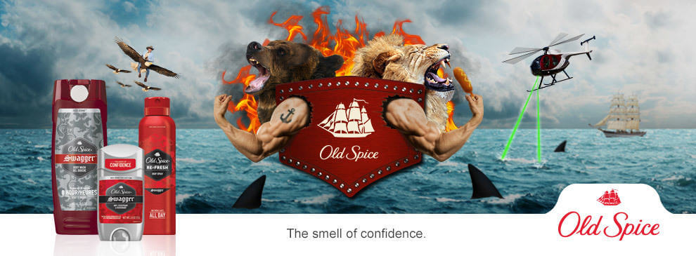 smell of confidence old spice