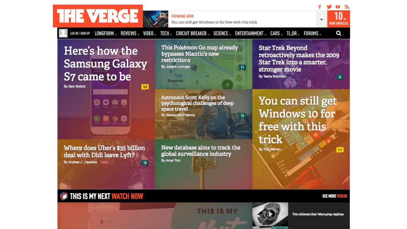 theverge.com من أين تحصل على آخر أخبار التكنولوجيا