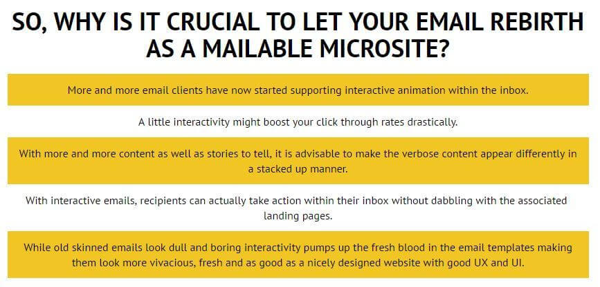 email monks email as a microsite