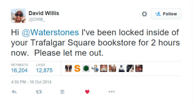 Freeing the man locked in Waterstones Bookstore