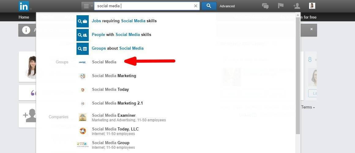 Join LinkedIn and Facebook Groups About Social Media