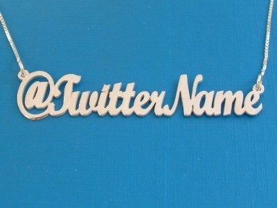 Twitter Name Necklace.