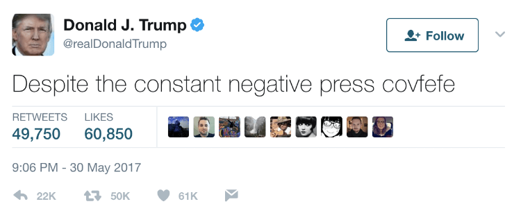 "10+ Hilarious Reactions to Trump's ""Covfefe"" Tweet"