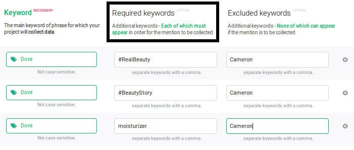 Use required keywords to clean up your results