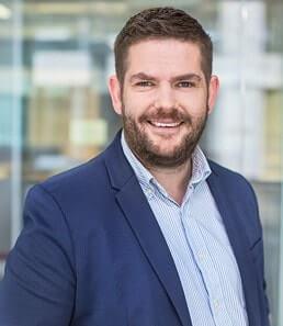 Mick Griffin, Head of Customer Success at Brand24, attending Social Media Marketing World 2018