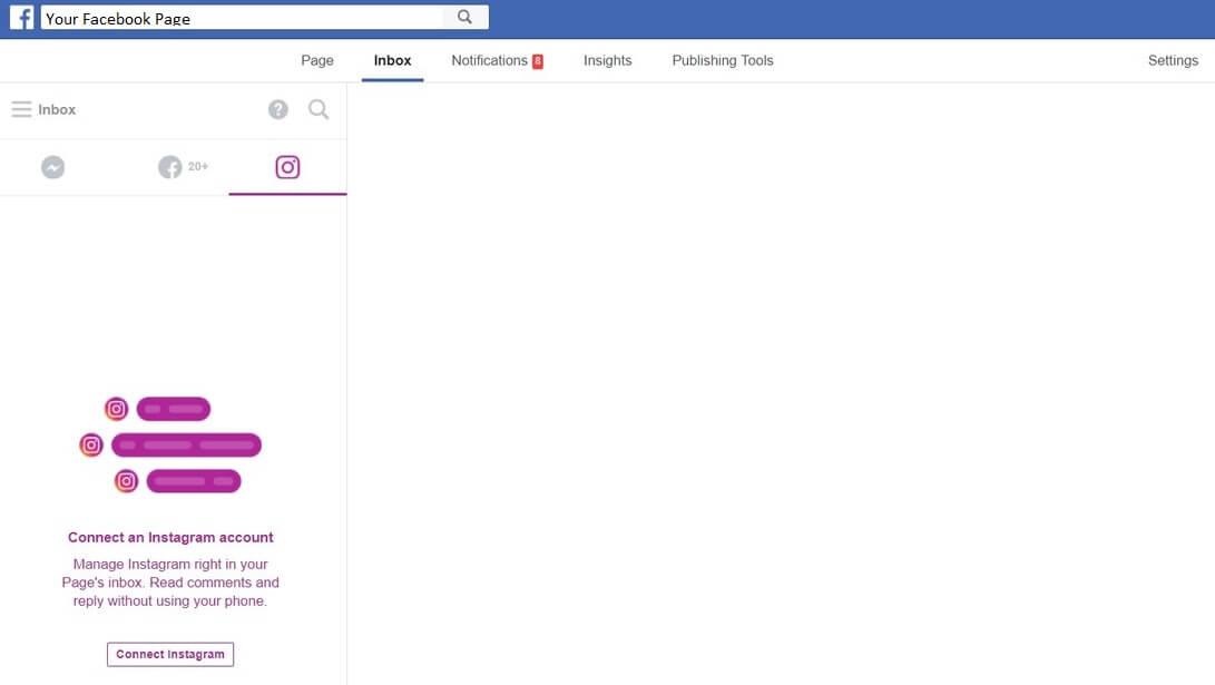facebook page fanpage inbox instagram inbox screen