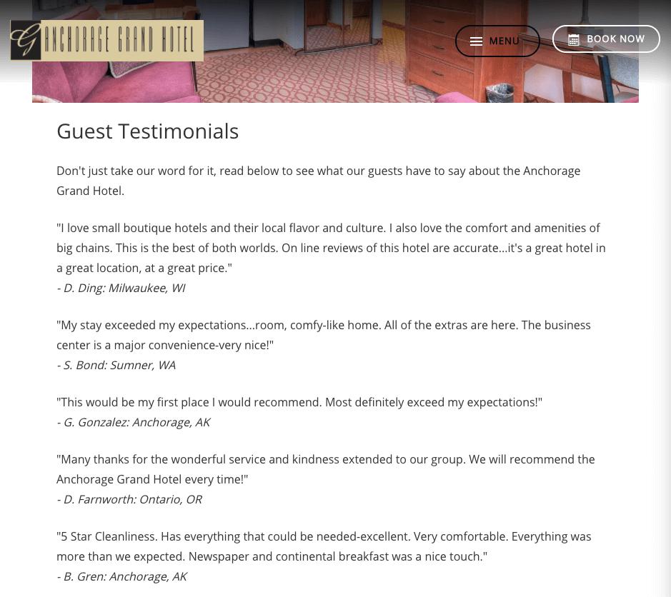 Live Customer Testimonials