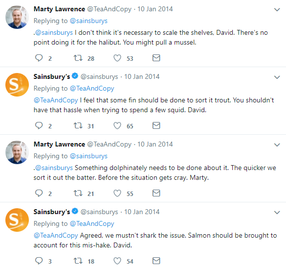 Fishy Sainsbury's - the funniest Twitter exchange ever.