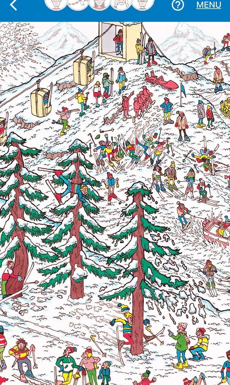 a google map with where is wally characters