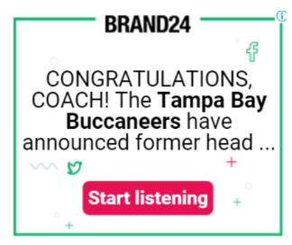 Brand24 remarketing ad: Congratulations Coach! The Tampa Bay Buccaneers have announced former head...""