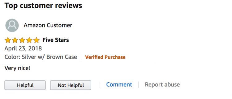 an amazon review