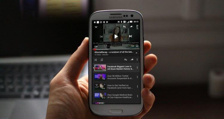 screenshot of top social media news updates from #SocialRecap on mobile