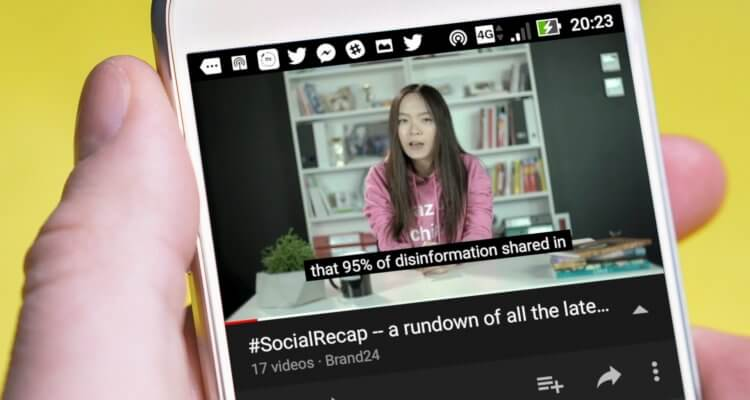 screenshot of #SocialRecap on YouTube, episode 17: Top Social News Updates + 6 Key Best Practices in Email Marketing
