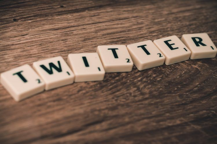Scrabble letters spelled to word Twitter