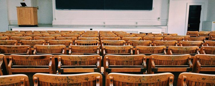 an empty lecture hall at a university