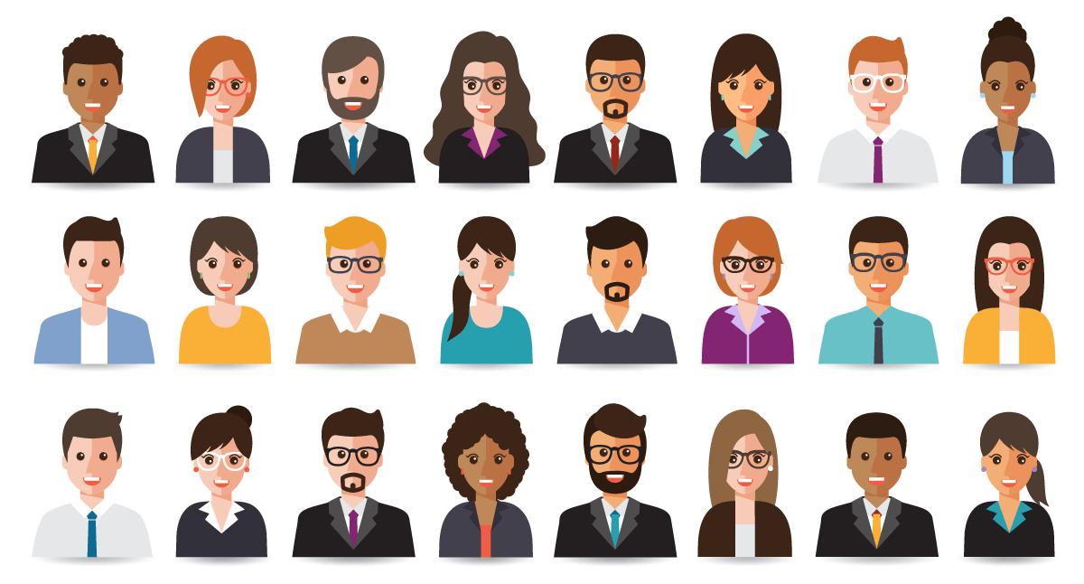 Visual representation of different customer personas