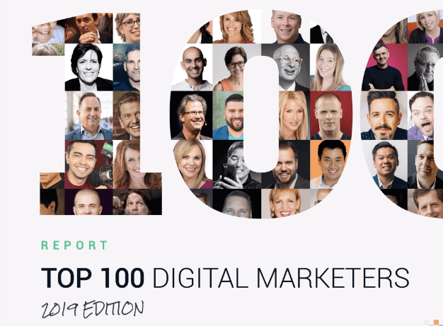 Top 100 Digital Marketers 2019 cover