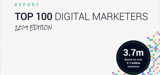 Top 100 Digital Marketers 2019: a Data-based Report