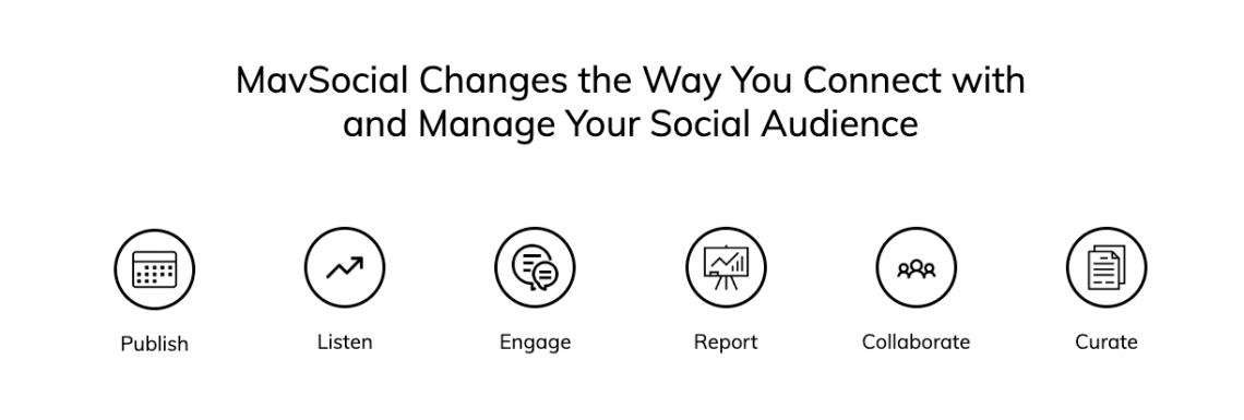 a print screen from MavSocial website, a social media management tool