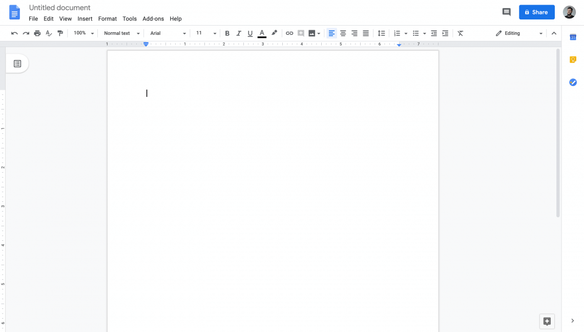 A screenshot from Google Docs, a text editing tools that can be used as a PR tool